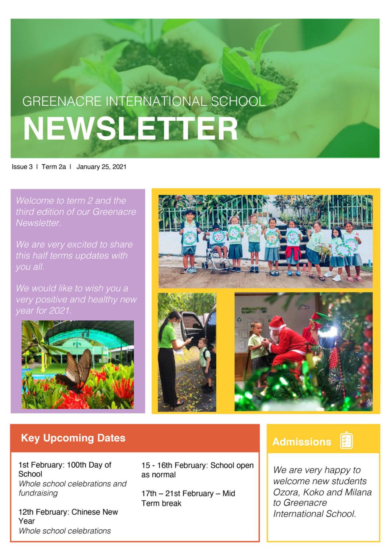 Greenacre Newsletter Issue 3 1